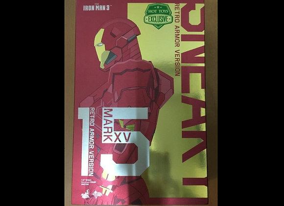 Hot Toys MMS396 IRON MAN 3 1/6 SNEAKY MARK XV (RETRO ARMOR VERSION) New