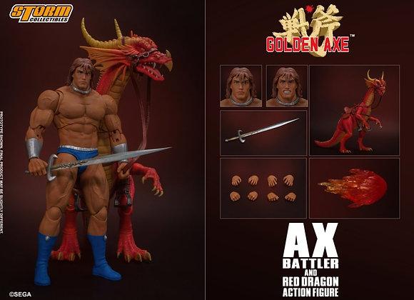 Storm Collectibles AX BATTLER & RED DRAGON - GOLDEN AXE ACTION FIGURE