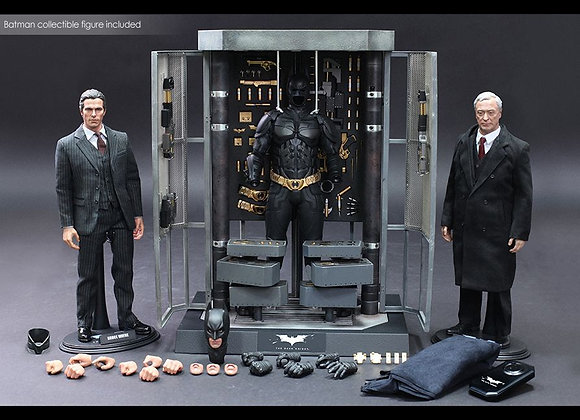 Hot Toys MMS236 1/6 BATMAN ARMORY WITH BRUCE WAYNE AND ALFRED PENNYWORTHS