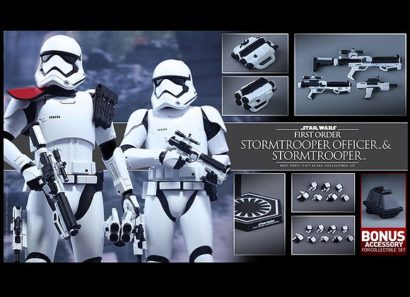 Hot Toys MMS335 STAR WARS 1/6 FIRST ORDER STORMTROOPER OFFICER AND STORMTROOPER