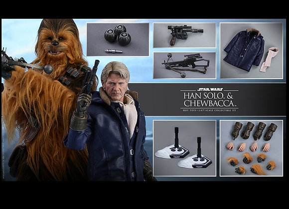 Hot Toys MMS376 STAR WARS THE FORCE AWAKENS 1/6 HAN SOLO AND CHEWBACCA