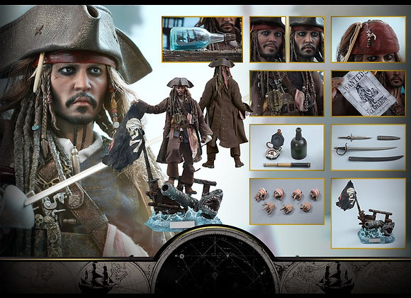 Hot Toys DX15 PIRATES OF THE CARIBBEAN: DEAD MEN TELL NO TALES 1/6 JACK SPARROW