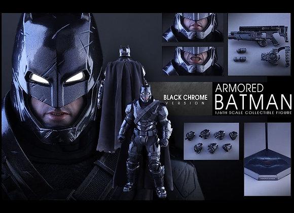 Hot Toys MMS356 BATMAN V SUPERMAN 1/6 Armored Batman Black Chrome Version