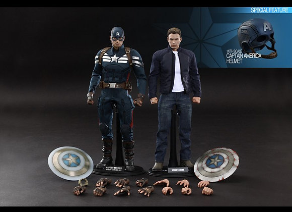 Hot Toys MMS243 1/6 CAPTAIN AMERICA & STEVE ROGERS SET
