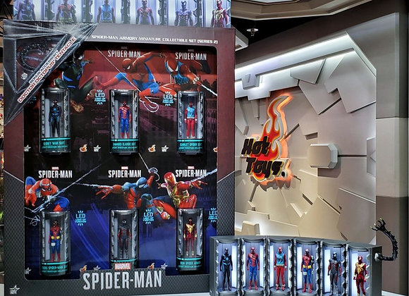 In Stock! Hot Toys VGMC022 MARVEL'S SPIDER-MAN - SPIDER-MAN ARMORY (SERIES 2)