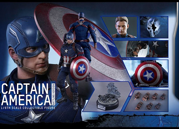 Hot Toys MMS360 CAPTAIN AMERICA: CIVIL WAR 1/6 CAPTAIN AMERICA BATTLING VERSION