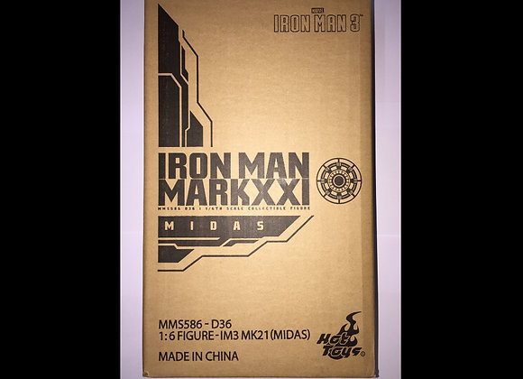In Stock! Hot Toys MMS586D36 IRON MAN 3 1/6 IRON MAN MARK XXI (MIDAS)