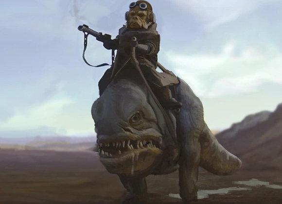 Hot Toys TMS049 Star Wars: The Mandalorian 1/6 Kuiil & Blurrg