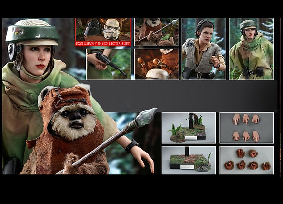 Hot Toys MMS551 STAR WARS RETURN OF THE JEDI 1/6 PRINCESS LEIA AND WICKET