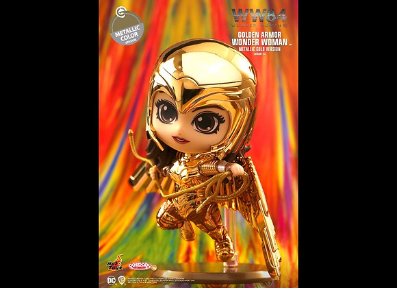 Hot Toys COSB726 WW1984 Golden Armor Wonder Woman Metallic Gold Version Cosbaby