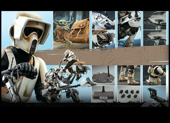 Hot Toys TMS017 THE MANDALORIAN 1/6 SCOUT TROOPER AND SPEEDER BIKE