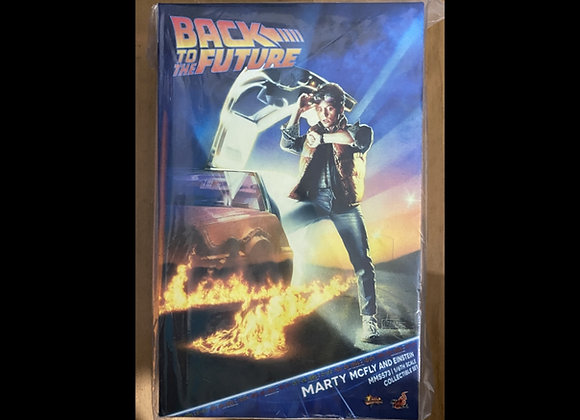Ready! Hot Toys MMS573 BACK TO THE FUTURE 1/6 MARTY MCFLY AND EINSTEIN
