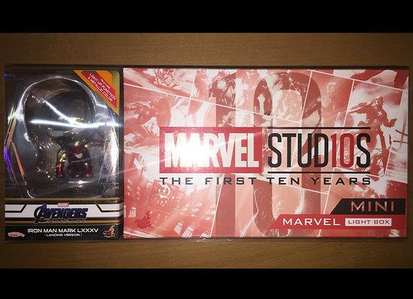Hot Toys PLIG005N Mini Marvel Light Box & Mark LXXXV (Landing Version) Cosbaby