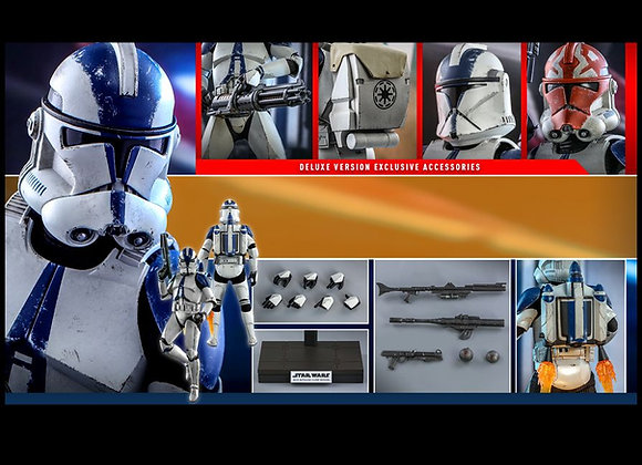 Hot Toys TMS023 STAR WARS THE CLONE WARS  501ST BATTALION CLONE TROOPER DELUXE