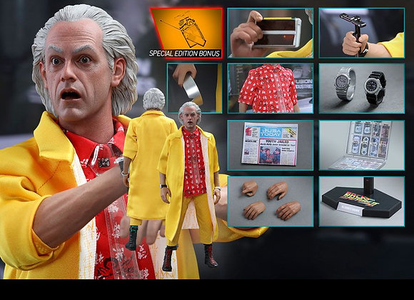 Hot Toys MMS380 BACK TO THE FUTURE PART II 1/6 DR. EMMETT BROWN SPECIAL EDITION