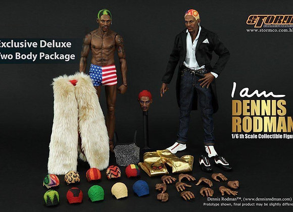 Storm Collectibles DENNIS RODMAN 1/6 Exclusive Deluxe 2 Body Version