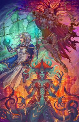 """Warbringers"" Fanart: World of Warcraft; Battle for Azeroth Blizzard"