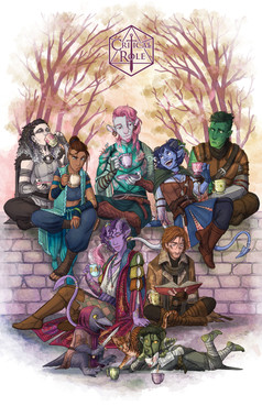 """""""The Mighty Nein""""  Poster design for Critical Role New York Live Show 2018 critrole.com"""