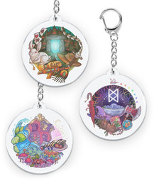 """""""The Adventure Zone""""  Acrylic charms based on each of the campaign seasons. 2020 Official Merch mcelroymerch.com"""