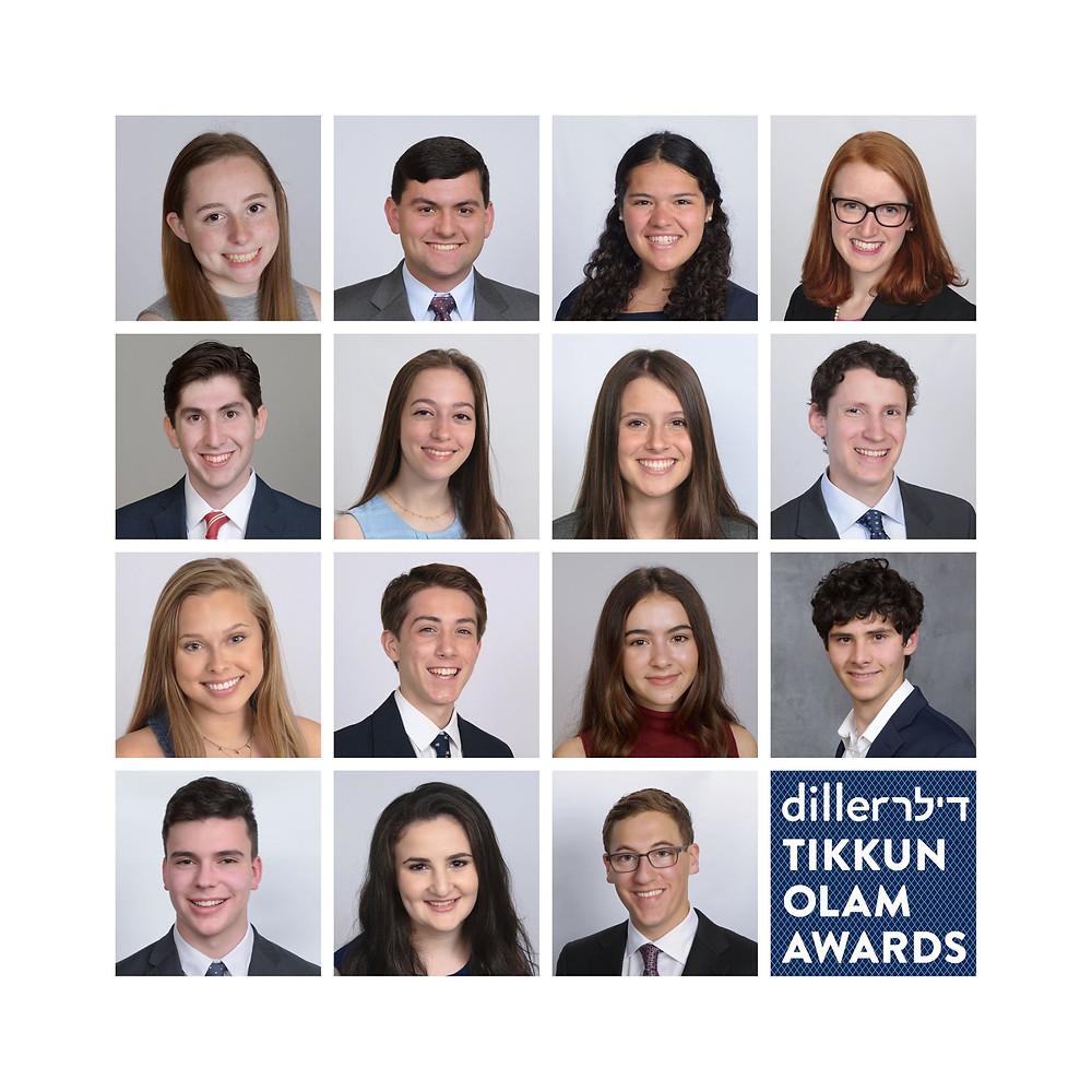 Diller teen Tikkun Olam Award 2019