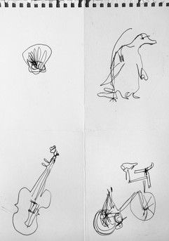 General warm-up, blind contour drawing