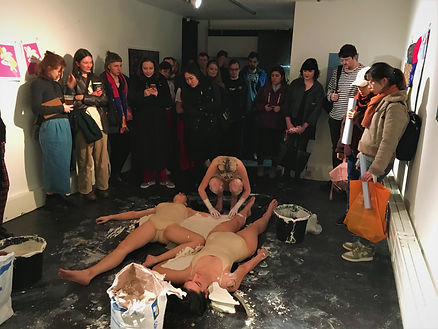 performance art in a gallery