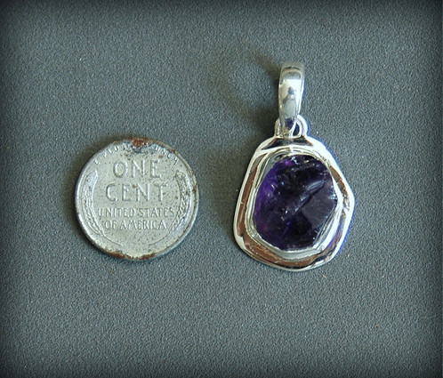 Natural raw amethyst pendant chaceabbott sterling silver and a gorgeous natural chunk of brazilian amethyst aloadofball Image collections