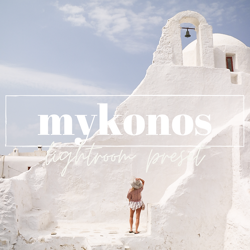 Mykonos Travel Lightroom Mobile Presets x3