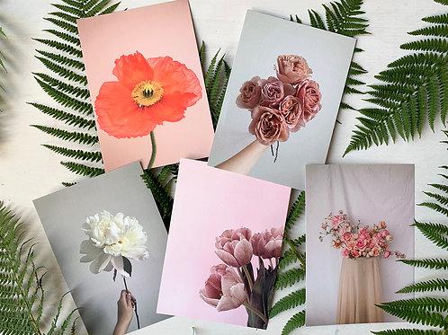 A5 Flower Prints
