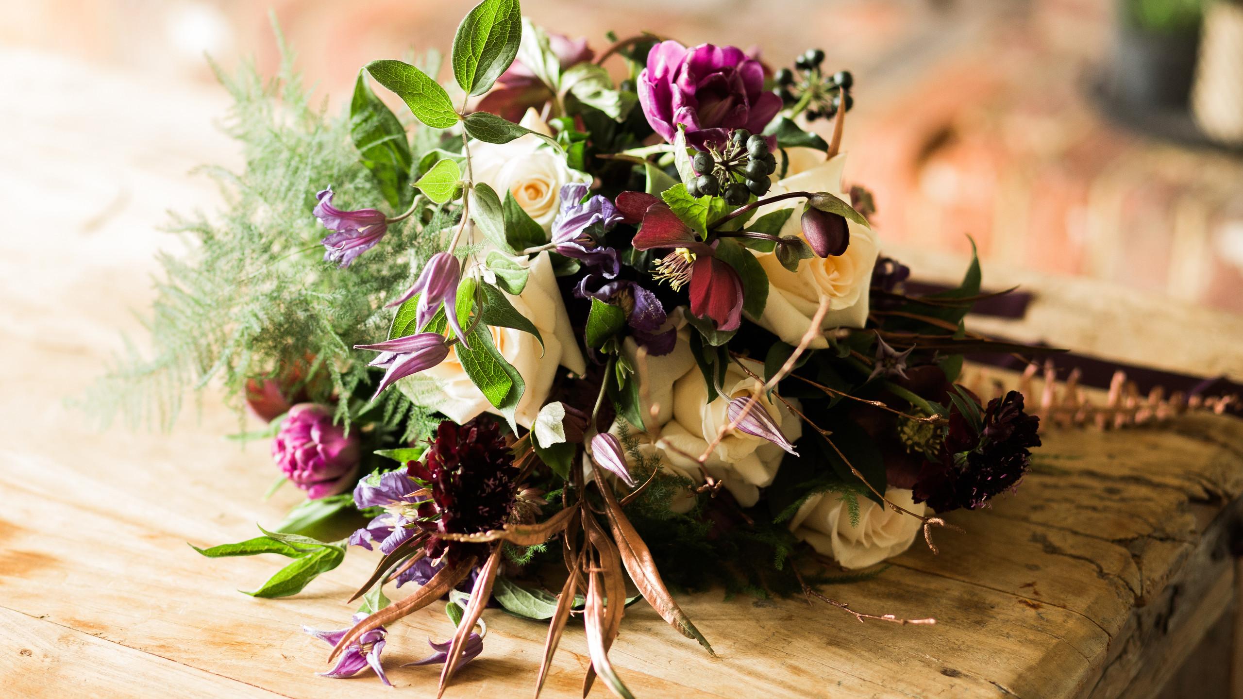 Ultraviolet Shoot Bridal Bouquet