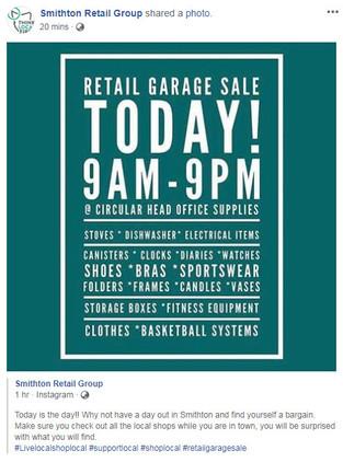 Smithton Retail Group Garage Sale