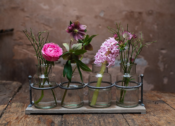 rustic jar display