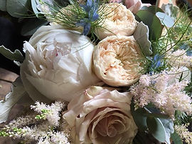 Close up of Summer Wedding Bouquet