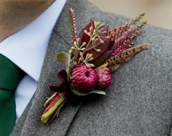 Autumnal buttonhole
