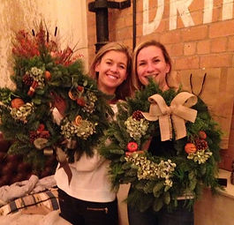Beautiful wreaths created at our workshop