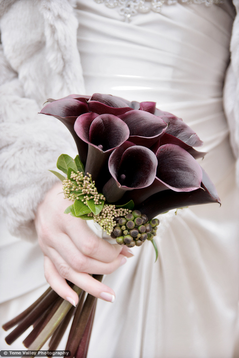 calla brides bouquet