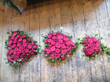 red rose hearts