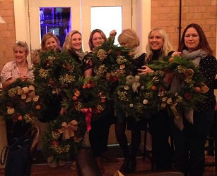 finished creations wreath workshop