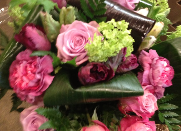 Florist choice bouquet  including tulips and roses