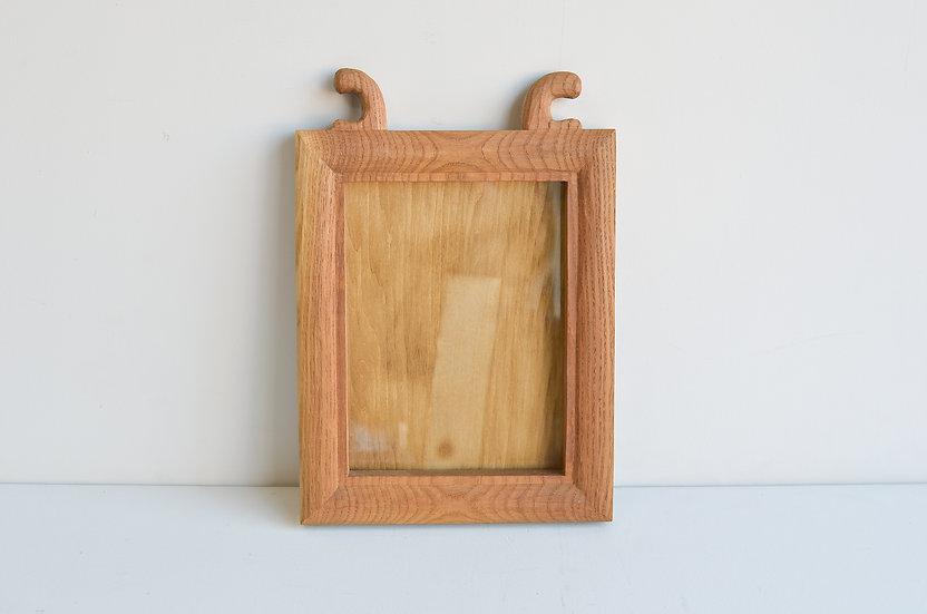 木工作家の古い木製の額#3