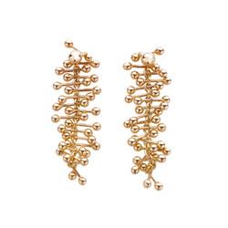 """boucles d'oreilles """" Molecule Gold """""""