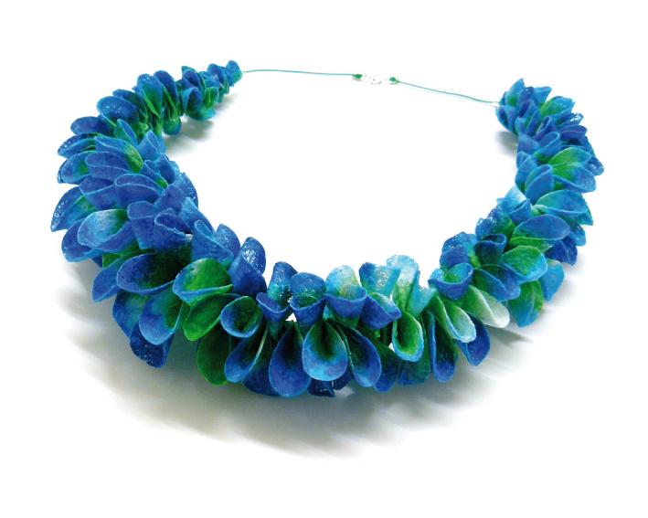 collier pétales Bleuet multi