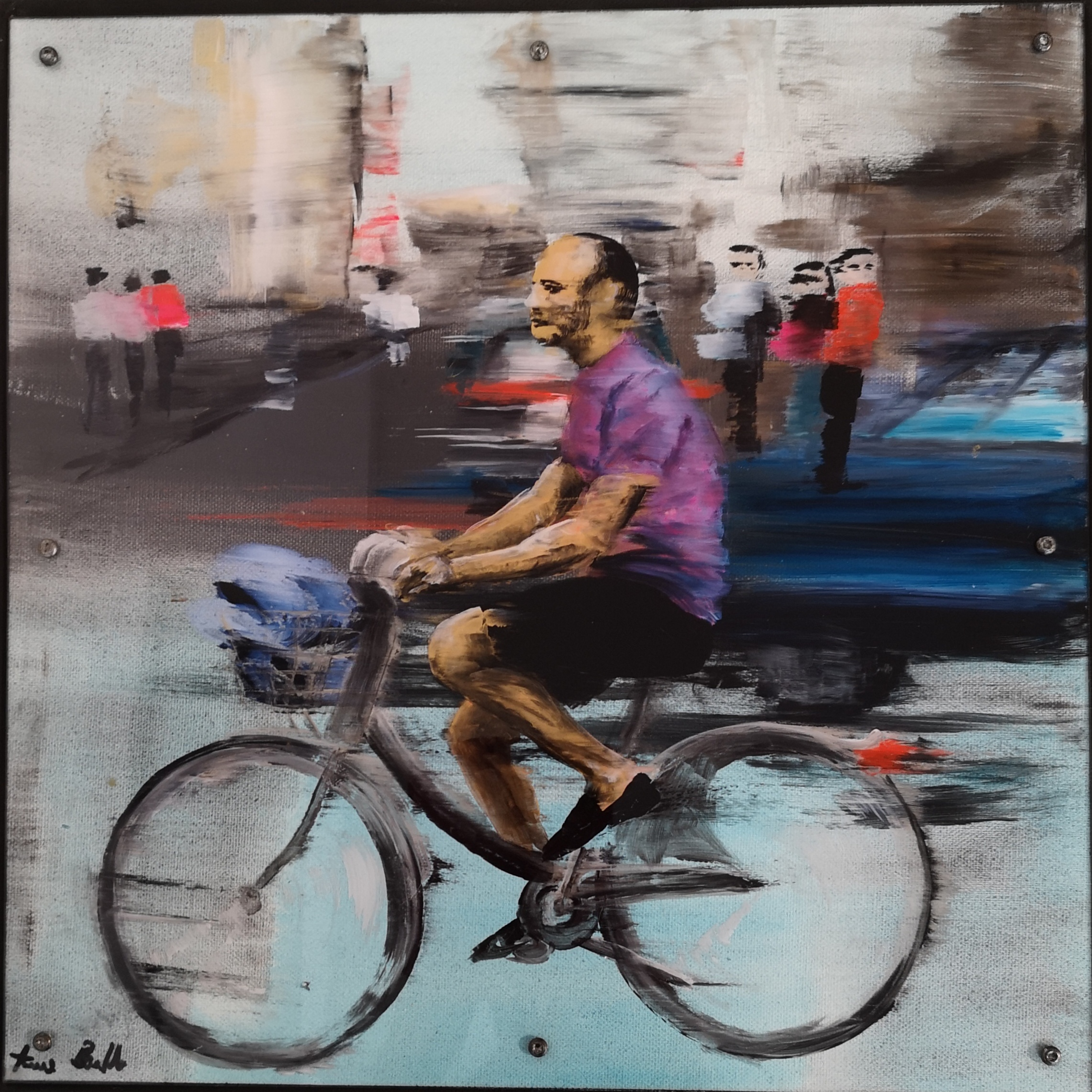 """ le beau cycliste"