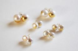 boucles d'oreilles haku or perles