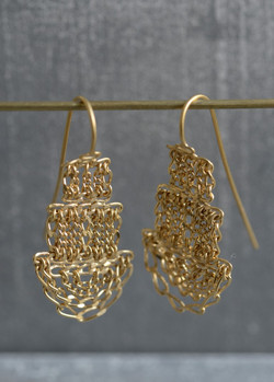 """boucles d'oreilles """"pagodes"""""""