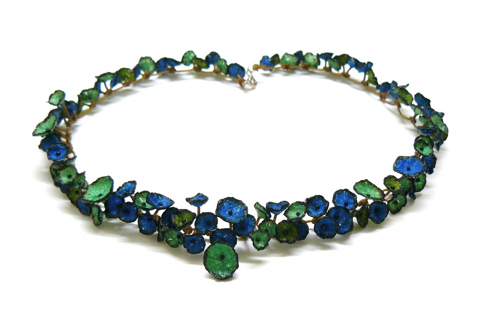collier nénuphar bleuet