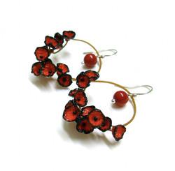 boucles d'oreilles – bijoux textiles