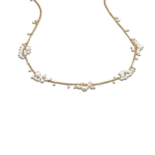 Pearl Scattered Cluster collier