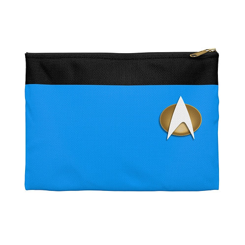 Star Trek Blue Accessory or Makeup Bag