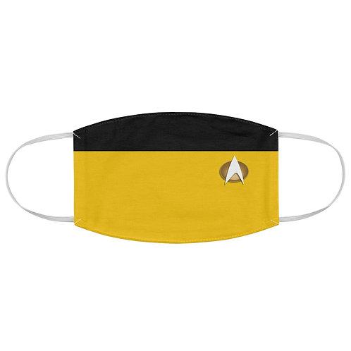Star Trek Yellow Fabric Face Mask